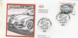 France FDC  -  Alpine Renault A110  -  Premier Jour D'Emission Envelope - Cars