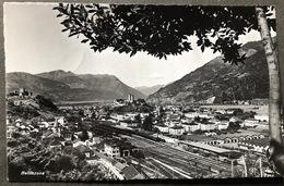 Bellinzona Panorama Du Nord/ Bahnhof Mit Zügen - TI Tessin