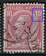 46  Obl  Cu  Griffe Sous 10 - 1884-1891 Léopold II