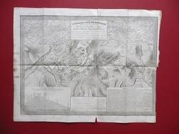 Carta Incisa Strada Del Sempione G. Pozzi Gilberto Borromeo Arese 1834 Zucoli - Vieux Papiers