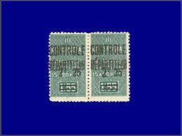 """ALGERIE Colis Postaux * - 37 + 37 B, Paire, 2 Types De """"2"""": 2.25/1.55. (Maury 46 I + III) - Cote: 120 - Algérie (1924-1962)"""