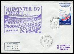 "17173 T.A.A.F N°121° Le ""Polarbjom""   MID WINTER 87    Crozet Du 21.6.1987   TB - Cartas"