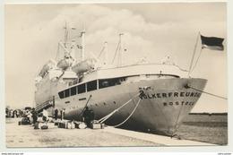 AK  Schiff Völkerfreundschaft Rostock - Barche