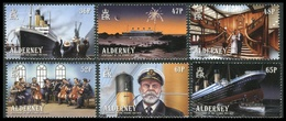 Alderney 2012  **/MNH   Correo Yvert Nº  435/440 Centenario Transatlántico Tita - Alderney