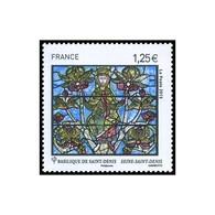 """Timbre N° 4931 Neuf ** - Basilique Cathédrale De Saint-Denis. Détail Du Vitrail L'arbre De Jessé""""."""" - France"""