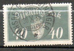 NORVEGE Service 40o Gris 1933 N° 18 - Norvège