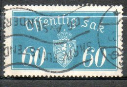 NORVEGE Service 60o Beu Vert 1933 N° 19 - Norvège