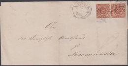 1861. 1?? + ALTONA7 4 To Flensburg.  Pair 4 S KGL POST FRIM. Var PUST Pl. III No.6. A... () - JF321263 - 1851-63 (Frederik VII)