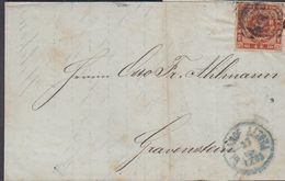 1863. 2 + ALTONA 27 9 To Gravenstein.  4 S KGL POST FRIM. Arrival Cancel GRAASTEEN 27... () - JF321264 - Lettres & Documents