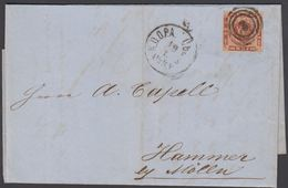 1863. 3 + KDOPA LÜBECK To Hammer Bei Mölln.  4 S KGL POST FRIM. Letter Included. () - JF321265 - Lettres & Documents