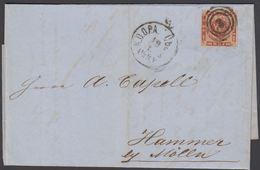 1863. 3 + KDOPA LÜBECK To Hammer Bei Mölln.  4 S KGL POST FRIM. Letter Included. () - JF321265 - 1851-63 (Frederik VII)