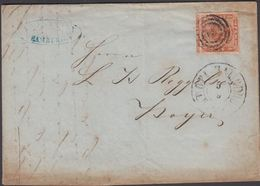 1858. ? + KDOPA HAMBURG5 5 To Hoyer.  JUMBO-sized 4 S KGL POST FRIM.  () - JF321268 - 1851-63 (Frederik VII)