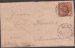 1861. 66 + SCHLESWIG 22 1 1861 To Neumünster.  4 S KGL POST FRIM. Blue NEUMÏNSTER 23 ... () - JF321269 - Lettres & Documents