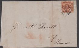 1863. 149 Mölln To Hammer.  4 S KGL POST FRIM. Beautiful Cancel.  () - JF321270 - Lettres & Documents