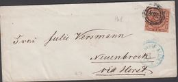 1863. 168+ BAHNHOF ALTONA To Neunbroek Via Horst.  4 S KGL POST FRIM. HORST 27 6 1863... () - JF321271 - Lettres & Documents