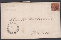 1860. ?+ ALTONAER BAHNHOF Z 2 To Heide.  4 S KGL POST FRIM. Beautiful Invoice From __... () - JF321275 - Lettres & Documents