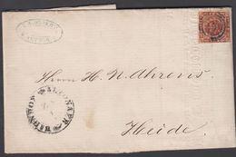 1860. ?+ ALTONAER BAHNHOF Z 2 To Heide.  4 S KGL POST FRIM. Beautiful Invoice From __... () - JF321275 - 1851-63 (Frederik VII)