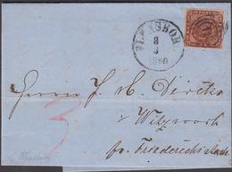 1860. 16 + FLENSBURG 3 3 1860 To Witzwoorth Pr. Friederichsstade.  4 S KGL POST FRIM.... () - JF321280 - Lettres & Documents