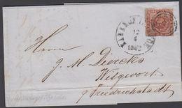 1862. 119 + BAHNHOF ITZEHOE 13 6 1862 To Witzwoorth Pr. Friederichsstade.  4 S KGL PO... () - JF321281 - 1851-63 (Frederik VII)
