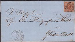 1863. 31+ BAHNHOF HUSUM 10 12 1863 To Glückstadt.  4 S KGL POST FRIM. Different Trans... () - JF321282 - 1851-63 (Frederik VII)