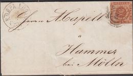 1863. 3+ KDOPA LÜBECK 4 8  __ To Hammer Bei Mölln.  __4 S KGL POST FRIM. Beautiful MØ... () - JF321287 - 1851-63 (Frederik VII)