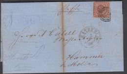 1860. ? + RATZEBURG 7 1 To Hammer Bei Mölln.  4 S KGL POST FRIM. Post Notice On The F... () - JF321288 - Lettres & Documents