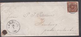 1861. 83 + GARDING 14 7 To Hamburg Poste Restante.  4 S KGL POST FRIM. Written In Pap... () - JF321289 - 1851-63 (Frederik VII)