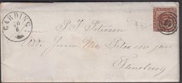 1861. 83 + GARDING 21 1 To Flensburg.  4 S KGL POST FRIM. Written 29th January. Lette... () - JF321290 - Lettres & Documents