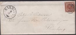 1861. 83 + GARDING 18 6 To Flensburg.  4 S KGL POST FRIM. Written 16th June 1861. Let... () - JF321291 - Lettres & Documents
