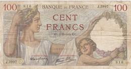 100 Francs Sully -1939 - J 3997 Ce Billet A Circulé  - Vendu En L'etat - 1871-1952 Antichi Franchi Circolanti Nel XX Secolo
