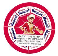 ETIQUETTE De FROMAGE..CAMEMBERT BUQUET Fabriqué à CHAMBOIS (Orne 61)..8 Portions - Cheese