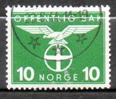 NORVEGE Service  10o Vert  1942 N° 43 - Norvège