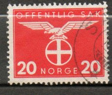 NORVEGE Service  20o Rouge Carminé  1942 N° 45 - Norvège