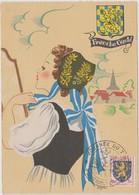 FRANCE 1952 Carte Maximum Franche-Comté Cachet Journée Du Timbre Pontarlier 8.3 1952 Avec N°YT 903 - 1950-59