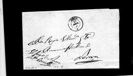 CG20 - Lett. Da Orta X Novara 13/8/1849 - Doppio Cerchio Sardo Ital. Nero Con Data - Italia