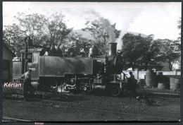 """Espagne - Photo Ferrocarril P.V. (Ponferrada - Villablino) - Locomotive 131 T Baldwin """" Ortiz Muriel """" - Voir 2 Scans - Treinen"""