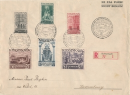 Luxemburg - 1938 - Willibrord Set On Large R-cover From Echternach To Luxembourg - Luxembourg