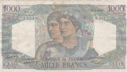 1000 Francs - Minerve  Et Hercule   -1950 - R 633  Ce Billet A Circulé  - Vendu En L'etat - 1871-1952 Antichi Franchi Circolanti Nel XX Secolo