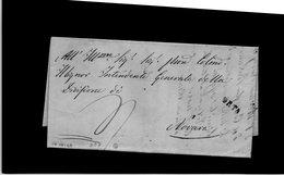 CG20 - Lett. Da Orta X Novara 10/10/1848 - Bollo Stampatello Diritto Nero Tipo 7° Senza Data - Italia
