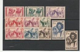 MAURITANIE ** LUXE N° 105/115 COTE 13.80 - Mauritanie (1906-1944)
