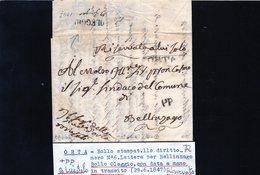 CG20 - Lett. Da Orta X Bellinzago 29/6/1847 - Italia