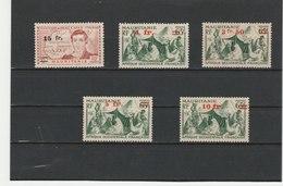 MAURITANIE ** LUXE N° 133/137 COTE 6.45 - Mauritanie (1906-1944)