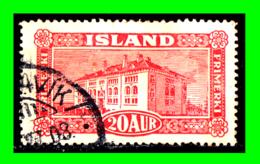 ISLANDIA SELLO  AÑO 1925 PAISAJES - 1918-1944 Autonomous Administration