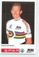 Etienne DE WILDE, Champion Du Monde . 2 Scans. Spar RDM - Cyclisme