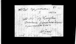 """CG20 - Lett. Da Orta X Novara 3/5/1845 - Bollo Lineare Rosso + P.P. * A Mano: """"In Corso Particolare"""" - Italia"""