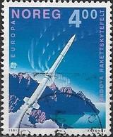 NORWAY 1991 Europa. Europe In Space - 4k - Rocket Leaving Andoya Rocket Range FU - Norwegen