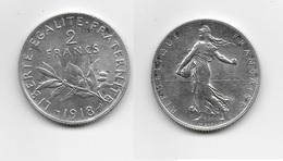 FRANCE 1918 - 2 FRANCS - I. 2 Francs