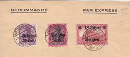 Belgique - COB OC 6 7 Et 8 Sur Lettre Oblitérée Verviers - WW I