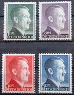 DR Hitler Dauerserie Höchstwerte Mi.Nr. 799B - 802B Postfrisch ** M€ 51,-- - Non Classificati