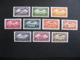GRAND LIBAN : TB Série PA N° 39 Au PA N° 48, Neufs X . - Grand Liban (1924-1945)
